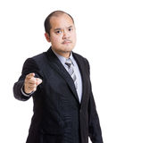 Asia businessman point to you Stock Images