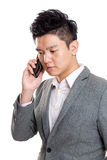 Asia businessman talking to mobile Stock Image