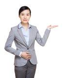 Asia businesswoman introduce something Royalty Free Stock Photo
