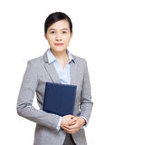 Asia businesswoman with notebook Royalty Free Stock Photography