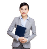 Asia businesswoman with notebook Stock Photography