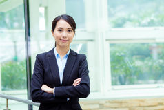 Asia businesswoman at outdoor Royalty Free Stock Photography