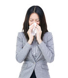 Asia businesswoman sneeze Royalty Free Stock Images