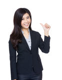 Asia businesswoman thumb up gesture Stock Photos