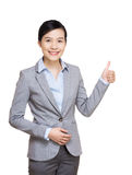 Asia businesswoman thumb up Royalty Free Stock Image