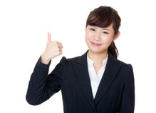 Asia businesswoman thumb up Stock Images