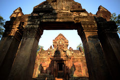 ASIA CAMBODIA ANGKOR BANTEAY SREI Royalty Free Stock Image