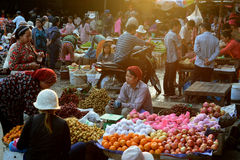 ASIA CAMBODIA SIEM RIEP. The Market in the old City of Siem Riep near the Ankor Wat Temples in the west of Cambodia Royalty Free Stock Image
