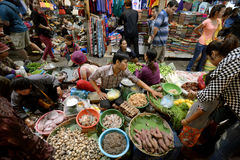ASIA CAMBODIA SIEM RIEP. The Market in the old City of Siem Riep neat the Ankro Wat Temples in the west of Cambodia Stock Photography