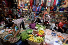 ASIA CAMBODIA SIEM RIEP. The Market in the old City of Siem Riep neat the Ankro Wat Temples in the west of Cambodia Stock Images