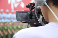 Asia cameraman Royalty Free Stock Image