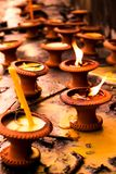 Asia candles. Candles lighting at Wat Phra Singh in Chiangmai Thailand Stock Images