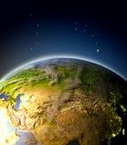 Asia Central de la órbita stock de ilustración