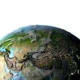 Asia Central en la tierra del planeta stock de ilustración