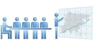 Asia chart statistics Stock Image