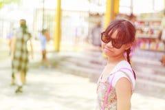 Asia child girl travel Stock Photo