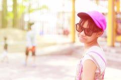 Asia child girl travel Stock Photos