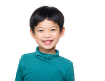 Asia child. Isolated on white Stock Photography