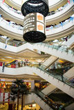 Asia China, Beijing, Aegean Sea shopping center, modern architecture, interior. Asia China, Beijing, Aegean Sea shopping center, set shopping, dining Royalty Free Stock Photos