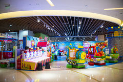 Asia China, Beijing, Aegean Sea shopping center, modern architecture, interior Stock Photo
