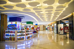 Asia China, Beijing, Aegean Sea shopping center, modern architecture, interior Royalty Free Stock Image