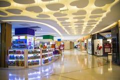 Asia China, Beijing, Aegean Sea shopping center, modern architecture, interior Royalty Free Stock Image