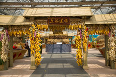 Asia China, Beijing, agricultural carnival, landscape layout Stock Image