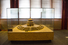 Asia China, Beijing, Ancient Architecture Museum,Indoor exhibition area,tiantan building model. Asia China, Beijing, ancient architecture museum, historic Royalty Free Stock Photos