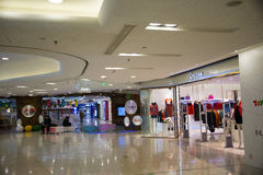 Asia China, Beijing, APM shopping center, indoor. China, Beijing,, APM shopping center, the Wangfujing shopping district, one-stop modern model, the daily trend Royalty Free Stock Photo