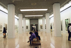 In Asia, China, Beijing, art museum, the exhibition hall layout, interior design Stock Image