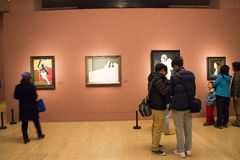 In Asia, China, Beijing, art museum, the exhibition hall layout, interior design Stock Photo