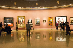 In Asia, China, Beijing, art museum, the exhibition hall layout, interior design Stock Photography