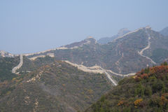 Asia China, Beijing, badaling national forest park, the red leaves, the Great Wall Royalty Free Stock Images