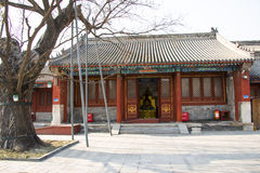 Asia China, Beijing, Baita temple, classical architecture,palace hall Royalty Free Stock Photography