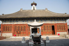 Asia China, Beijing, Baita temple, classical architecture,palace hall Stock Images