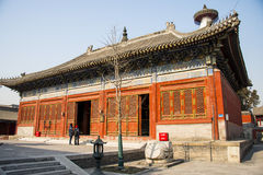 Asia China, Beijing, Baita temple, classical architecture,palace hall Stock Photos