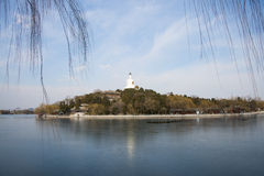 Asia China, Beijing, Beihai Park, early spring landscape Royalty Free Stock Photo