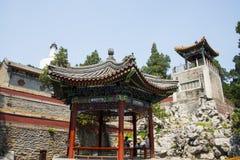 Asia China, Beijing, Beihai Park, garden architecture, Yongan temple, Royalty Free Stock Images
