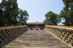 Asia China, Beijing, Beihai Park, garden architecture, Yongan temple, the level Stock Image