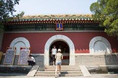 Asia China, Beijing, Beihai Park, garden architecture, Yongan temple, the level Stock Photos