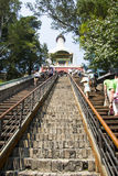 Asia China, Beijing, Beihai Park, garden architecture, Yongan temple, Steps Stock Image