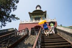 Asia China, Beijing, Beihai Park, garden architecture, Yongan temple, Steps Royalty Free Stock Photography