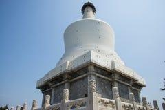 Asia China, Beijing, Beihai Park, garden architecture, Yongan temple, The White Pagoda Stock Image