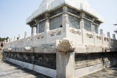 Asia China, Beijing, Beihai Park, garden architecture, Yongan temple, The White Pagoda Stock Photo