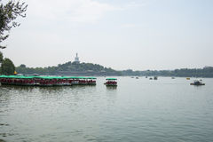 Asia China, Beijing, Beihai Park, Lakeview, cruise Stock Photography