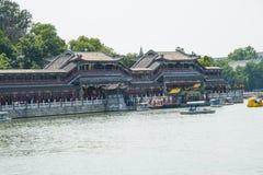 Asia China, Beijing, Beihai Park, Lakeview, long corridor, Stock Images