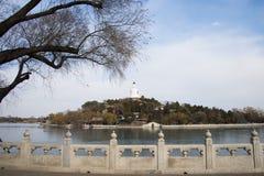 Asia China, Beijing, beihai park, the royal garden, lake view Royalty Free Stock Photography