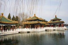 Asia China, Beijing, beihai park, the royal garden, Pavilion Royalty Free Stock Photography
