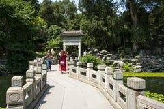 Asia China, Beijing, Beihai Park, The stone bridge, arch Stock Image