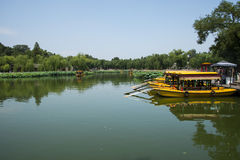 Asia China, Beijing, Beihai Park, Summer garden scenery,cruise Stock Photo